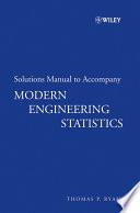 Modern Engineering Statistics, Solutions Manual