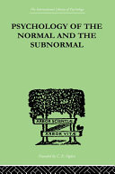 Psychology Of The Normal And The Subnormal [Pdf/ePub] eBook