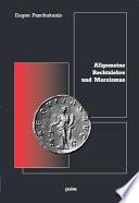 Allgemeine Rechtslehre und Marxismus