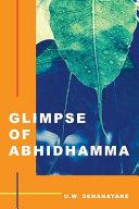 Glimpse of Abhidhamma