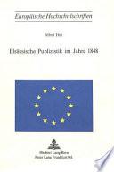 Elsässische Publizistik im Jahre 1848