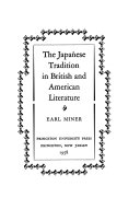 The Japanese tradition in British and American literature