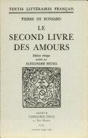 Le Second Livre Des Amours
