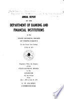 Biennial Report of the Department of Banking and Financial Institutions to the State Banking Board ...