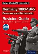 Germany 1890-1945 Democracy and Dictatorship