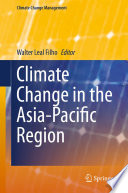 Climate Change in the Asia Pacific Region Book