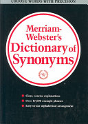 Merriam-Webster's Dictionary of Synonyms