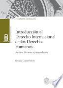 Introducción al derecho internacional de los Derechos Humanos