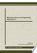 Materials Science and Engineering Application II