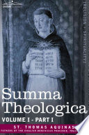 Read Online Summa Theologica, Volume 1 For Free