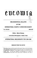 Encomia Bulletin Bibliographique de la Soci  t   International de Litt  rature Courtoise