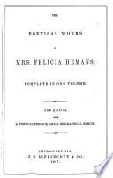 The Poetical Works of Mrs. Felicia Hemans Pdf/ePub eBook