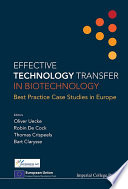 Effective Technology Transfer in Biotechnology Book