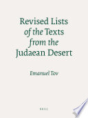 Revised Lists of the Texts from the Judaean Desert