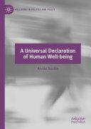 A Universal Declaration of Human Well-being Pdf/ePub eBook