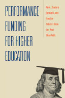 Performance Funding for Higher Education Pdf/ePub eBook