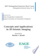 Concepts and Applications in 3D Seismic Imaging
