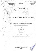 Bibliography of the District of Columbia