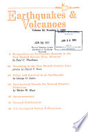 Earthquakes   Volcanoes