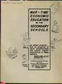 Wartime Economic Education in the Secondary Schools