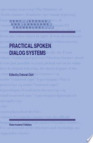 Download Practical Spoken Dialog Systems Free Books - eBookss.Pro