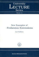 New Examples of Frobenius Extensions