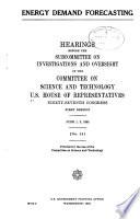 Energy Demand Forecasting Book