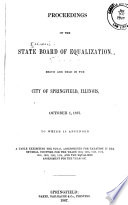 Proceedings Of The Illinois State Board Of Equalization