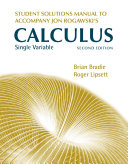 Student Solutions Manual for Calculus Late Transcendentals Single Variable