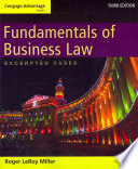 Cengage Advantage Books Fundamentals Of Business Law Excerpted Cases Book