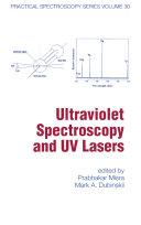 Ultraviolet Spectroscopy And Uv Lasers [Pdf/ePub] eBook