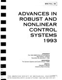 Advances In Robust And Nonlinear Control Systems Book PDF