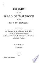 History of the Ward of Walbrook in the City of London