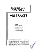 Religious and Theological Abstracts