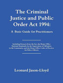 The Criminal Justice and Public Order Act 1994