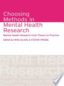 Choosing Methods in Mental Health Research Book PDF