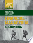 Study Guide to Accompany Weygandt Financial and Managerial Accounting