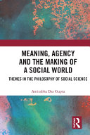 Meaning, Agency and the Making of a Social World