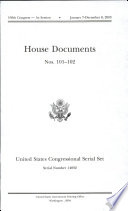 United States Congressional Serial Set Serial No 14832 House Documents Nos 101 102