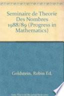 Séminaire de théorie des nombres, Paris 1988-1989