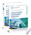 Quantitative Investment Analysis, Book and Workbook Set