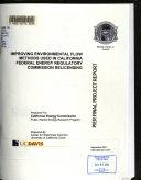 Improving Environmental Flow Methods Used In California Federal Energy Regulatory Commission Relicensing Book PDF