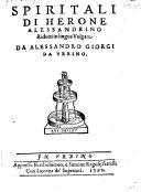 Spiritali, rid. in lingua volgare da Alessandro Giorgi