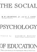 Readings in the Social Psychology of Education