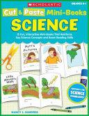 Cut   Paste Mini Books  Science Book