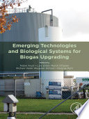 Emerging Technologies and Biological Systems for Biogas Upgrading