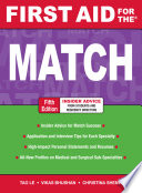 First Aid for the Match  Fifth Edition Book