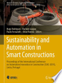 Sustainability and Automation in Smart Constructions Book
