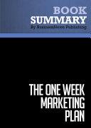 Summary  The One Week Marketing Plan