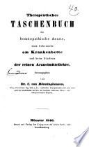 Therapeutisches taschenbuch für homŏopathische aerzte...